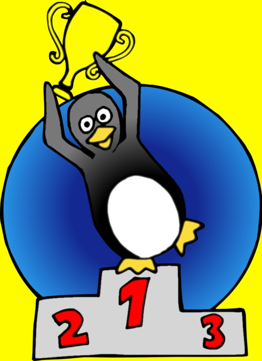Pingouin sur le podium
