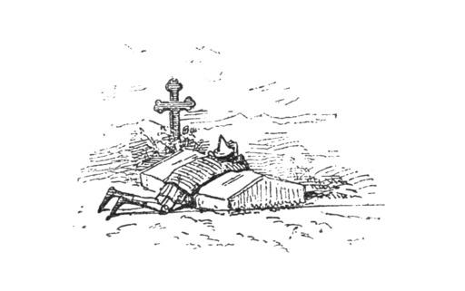 Pinocchio sur la tombe de la fée