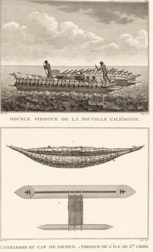 Pirogue de Nouvelle-Calédonie en 1797