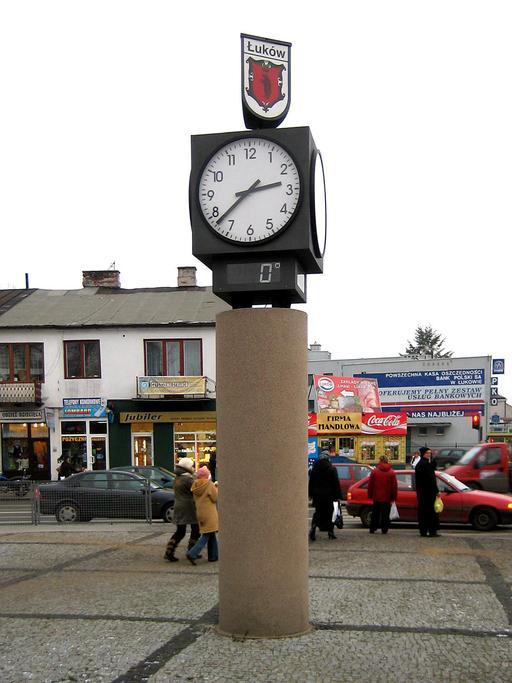 Place de la Solidarité et de la Liberté à Łuków en Pologne