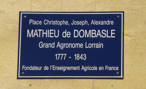 Place Mathieu de Dombasle à Nancy