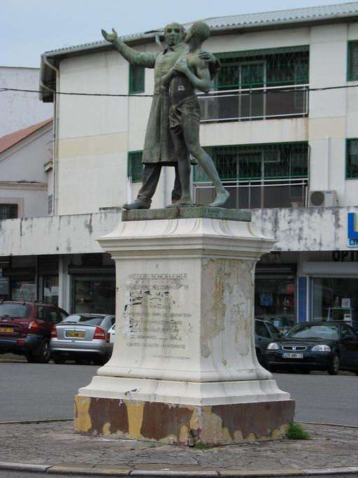Place Schoelcher à Cayenne