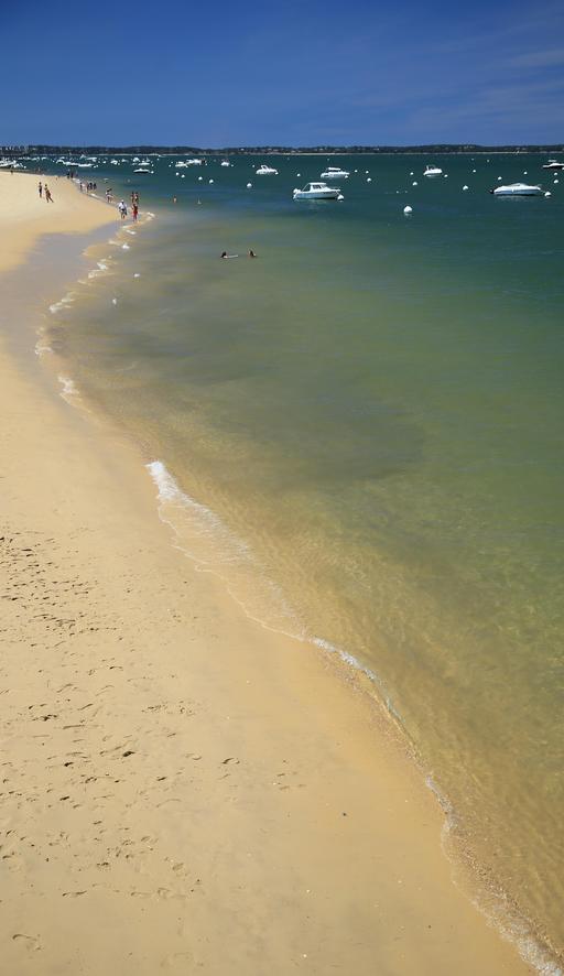 Plage de sable en bord de mer
