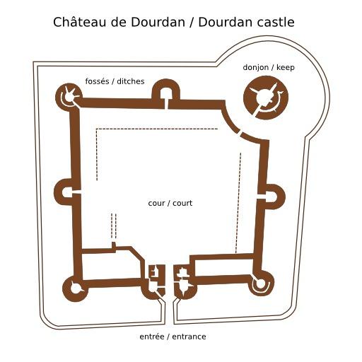 Plan de château-fort