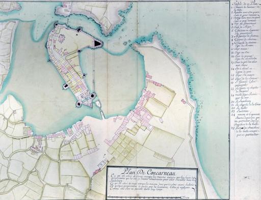 Plan de Concarneau au XVIIIème siècle