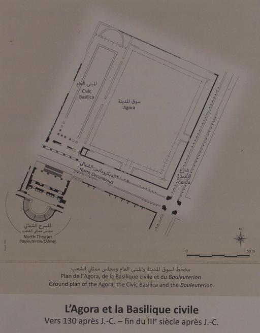 Plan de l'Agora et de la Basilique Civile à Jerash