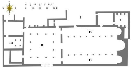 Plan de l'église byzantine de Petra en Jordanie