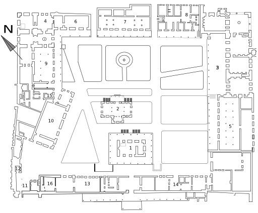 Plan de la 3° cour du Palais de Topkapi