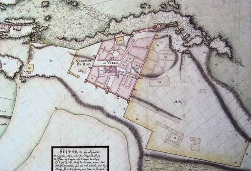 Plan de la citadelle d'Essaouira en 1767
