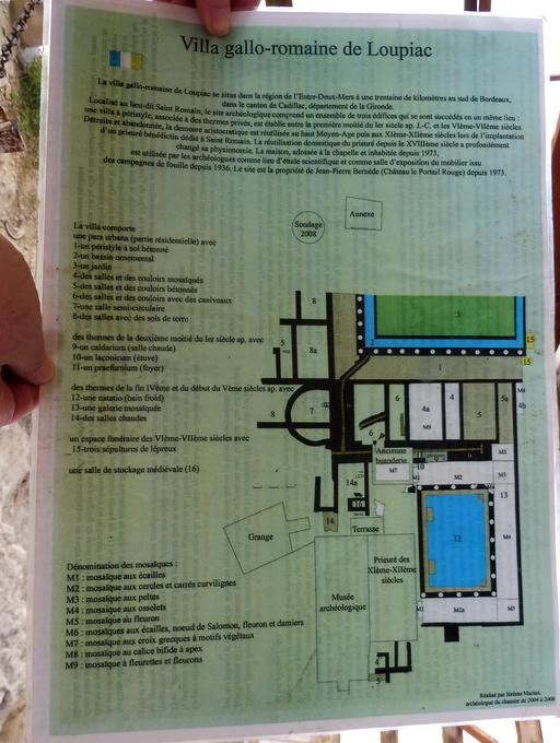Plan de la villa gallo-romaine de Loupiac-33