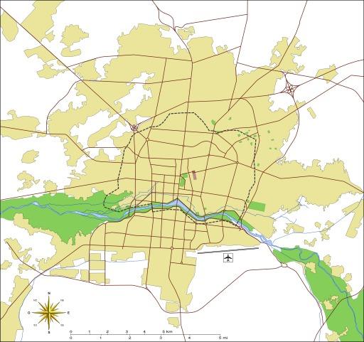 Plan de la ville moderne d'Ispahan