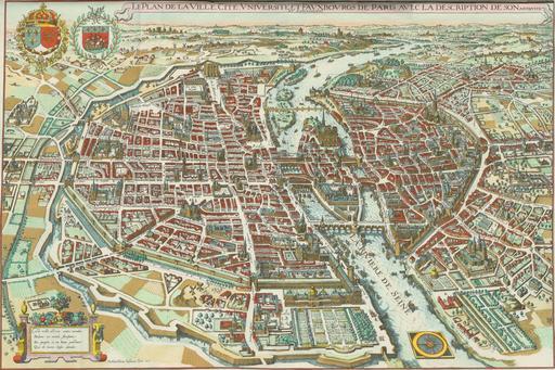 Plan de Paris en 1615
