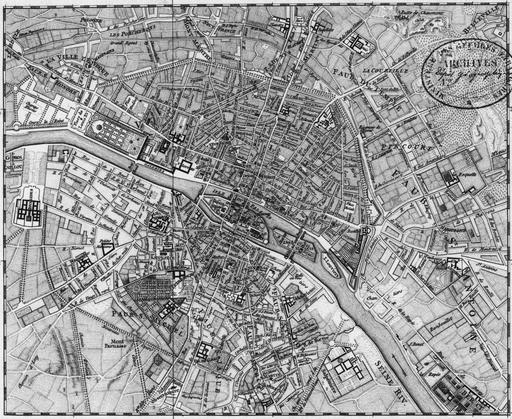 Plan de Paris en 1760