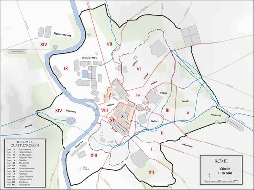 Plan de Rome antique