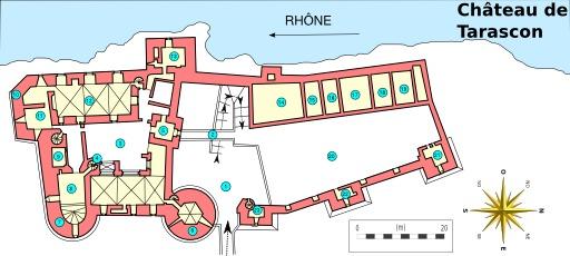 Plan du Château de Tarascon