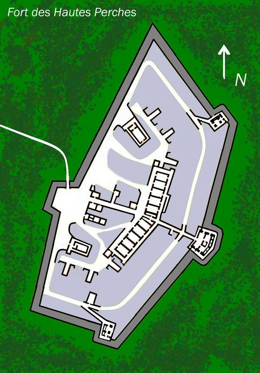 Plan du Fort des Hautes Perches
