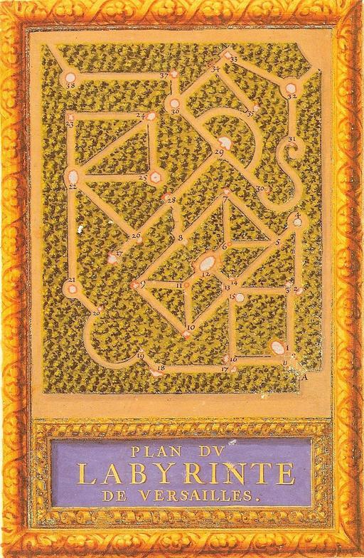 Plan du Labyrinthe de Versailles en 1677