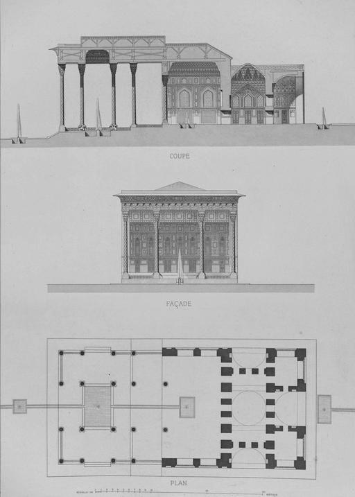 Plan du Pavillon d'Aynekhane en 1840