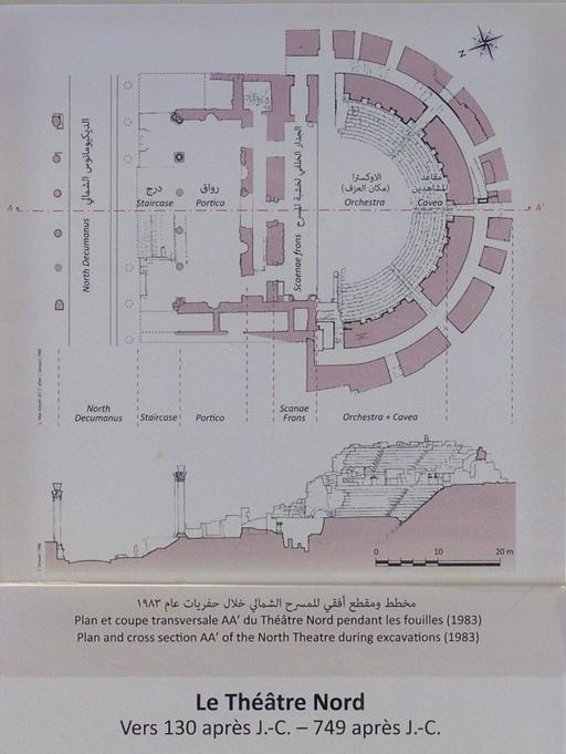 Plan du Théâtre Nord de Jerash