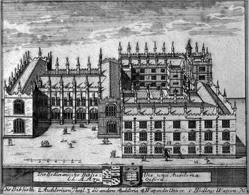 Plan et façade de bibliothèque à Oxford