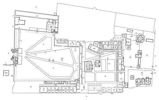 Plan général du Palais de Topkapi