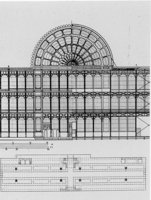 Plans du Crystal Palace de Londres en 1852