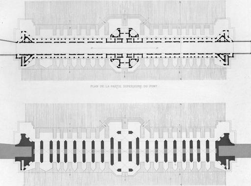 Plans du pont de Khaju en 1840