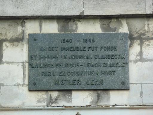 Plaque commémorative de La Libre Belgique