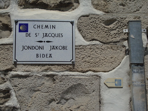 Plaque jacquaire bilingue