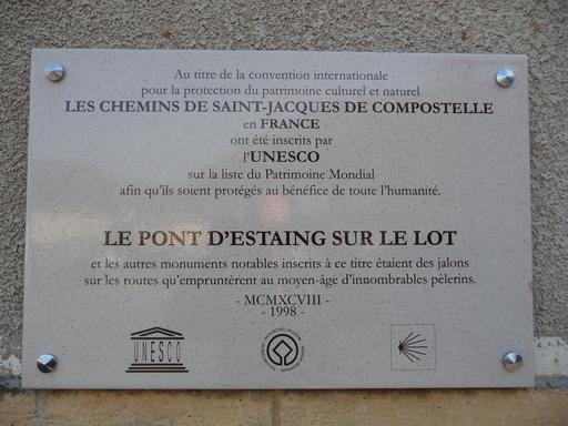 Plaque jacquaire en Aveyron