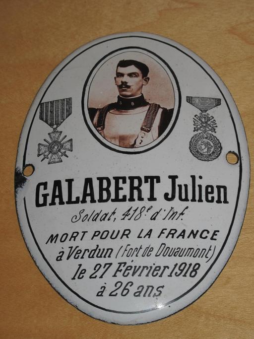 Plaque militaire de Verdun