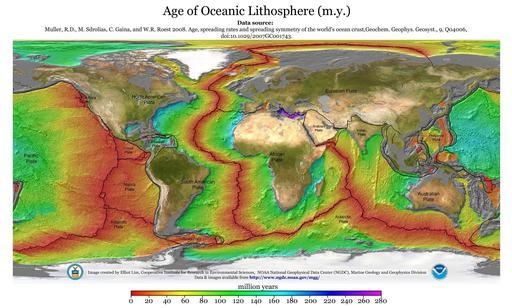 Plaques de lithosphère océanique