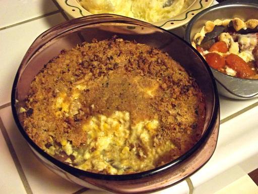 Plat de maïs grillé pour Thanksgiving