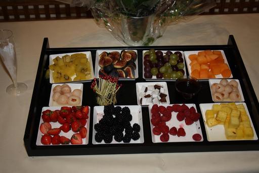 Plateau de fruits d'apéritifs