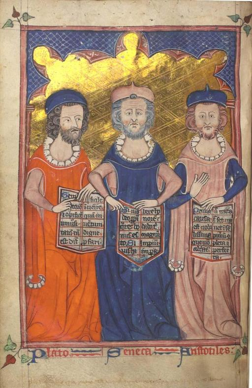 Platon, Sénèque et Aristote