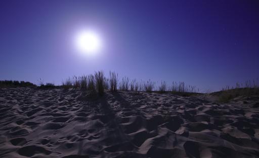 Pleine lune sur la Dune du Pyla