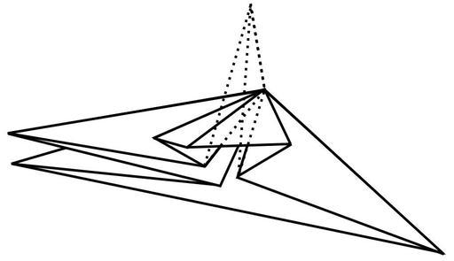 Pli aplati en origami