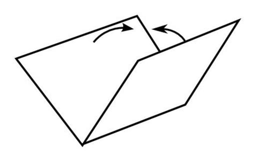 Pli en creux en 3D en origami