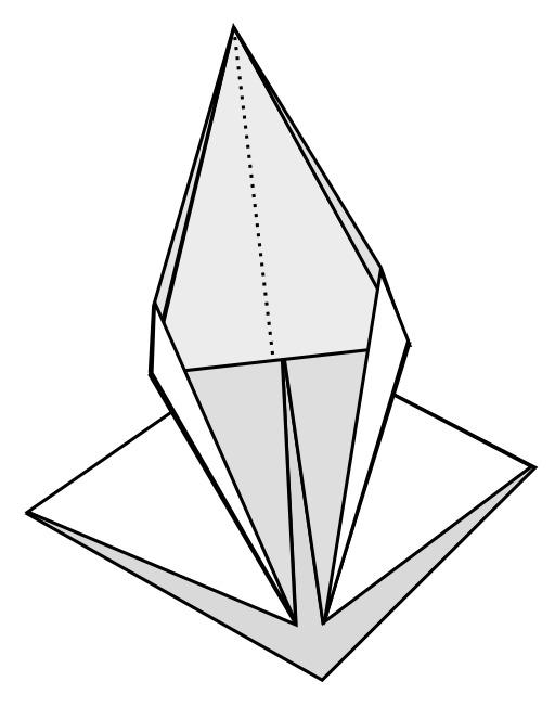 Pli pétale en origami
