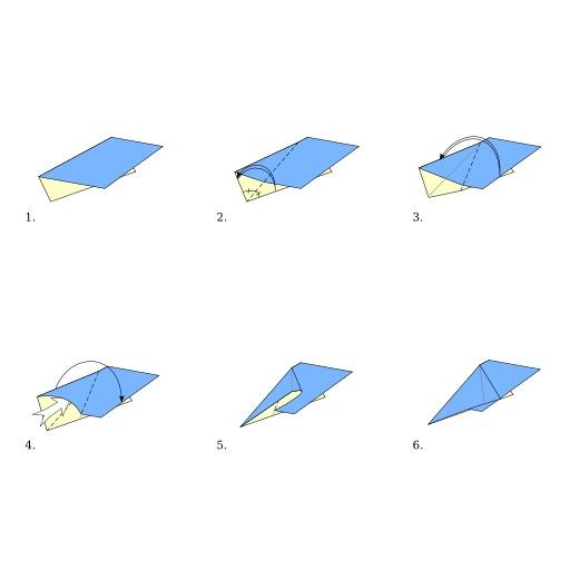 Pli pivot en origami
