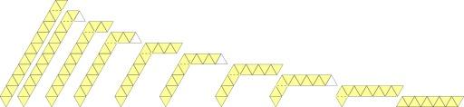 Pliage d'un hexahexaflexagone