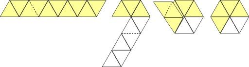 Pliage d'un trihexaflexagone