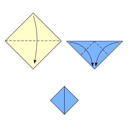 Pliage de casque en origami