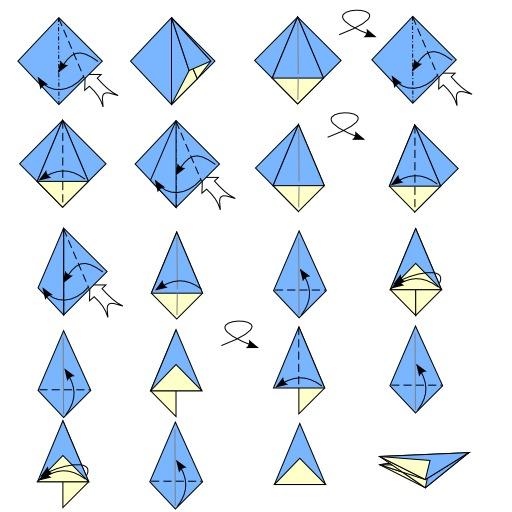 Pliage de parapluie en origami