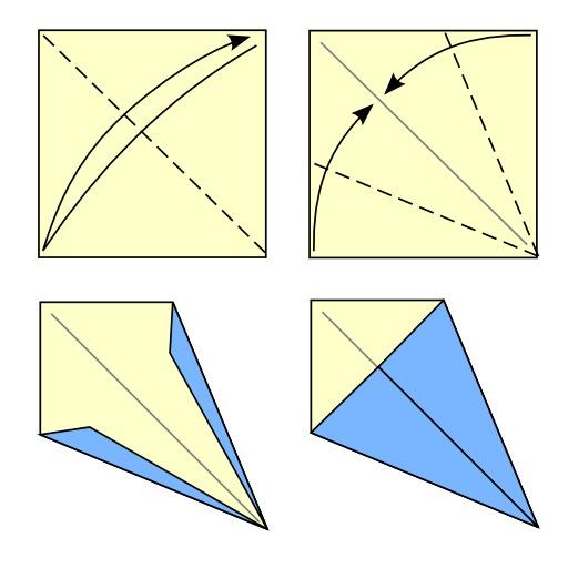 Pliage du cerf-volant en origami