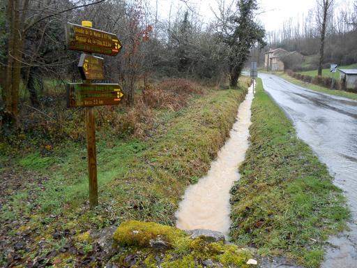 Pluie d'hiver en Dordogne