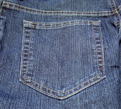 Poche arrière de pantalon