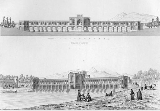 Pont de Khaju en 1840
