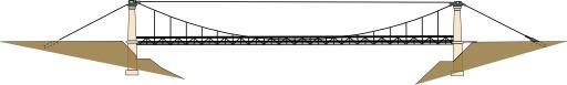Pont suspendu à travée unique
