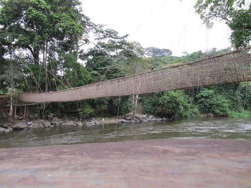 Pont suspendu au Gabon